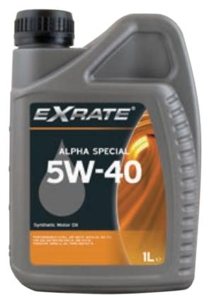 EXRATE Alpha Special 5W40 1 liter C3 specificatie (1525998521428)