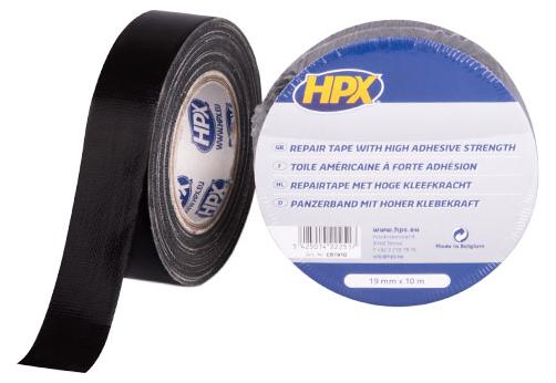 HPX Reparatietape zwart 50mm x 25m (1302203412242)