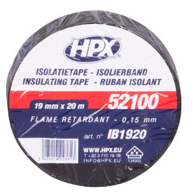 HPX PVC isolatietape 19mm x 10m (1333532322000)
